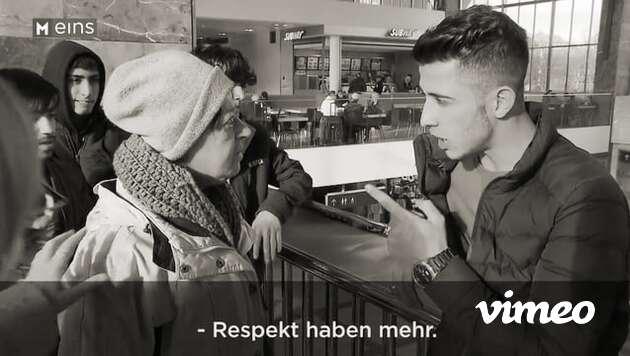 Frau bis du.  Respekt haben mehr.