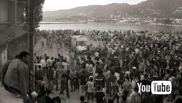 Embedded thumbnail for Straßenschlachten auf Lesbos