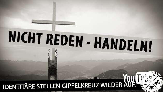 Embedded thumbnail for Identitäre stellen Gipfelkreuz wieder auf - Presse geifert