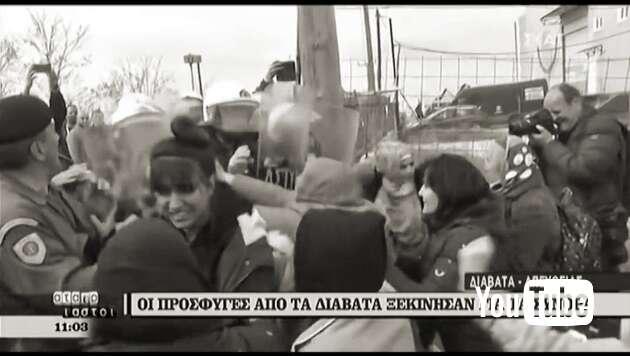 Embedded thumbnail for Migranten versuchen mazedonische Grenze zu stürmen