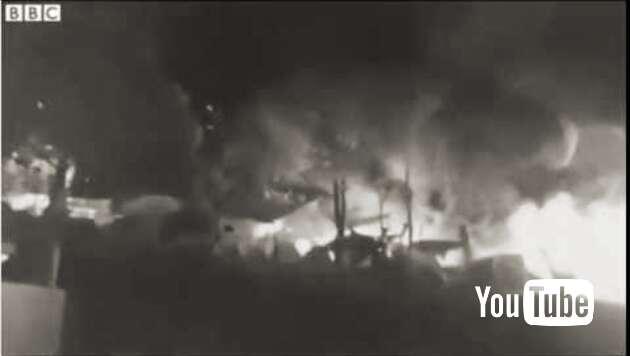 "Embedded thumbnail for ""Allahu akbar"": Flüchtlinge brennen ihr Lager nieder"