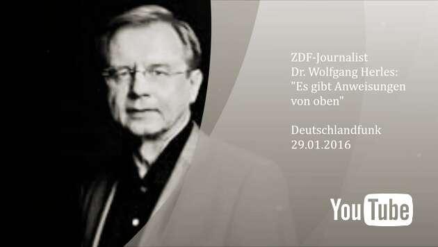"""Embedded thumbnail for Wolfgang Herles: """"Es gibt Anweisungen von oben"""""""