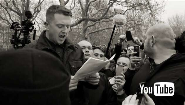 Embedded thumbnail for Tommy Robinson hält Martin Sellners Rede