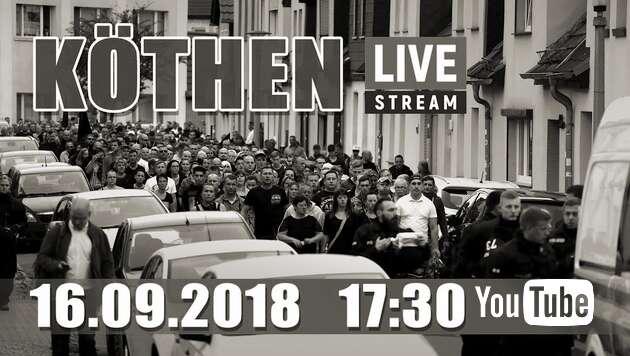 Embedded thumbnail for Livestream: Demo in Köthen 16.09.2018