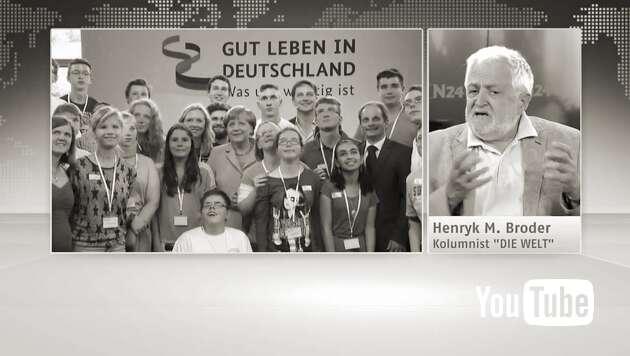 """Embedded thumbnail for """"Merkel fährt das Ding richtig an die Wand"""""""