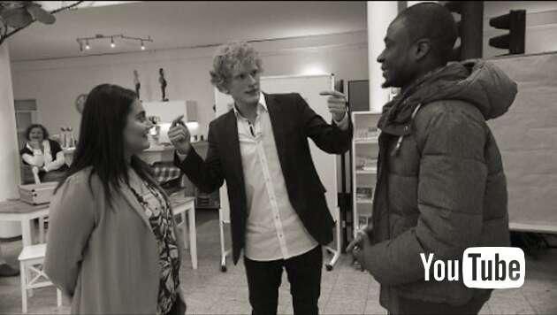Embedded thumbnail for Wieder Flirtkurse für Flüchtlinge